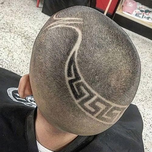 Very Short Buzz Cut + Zig Zag Hair Design