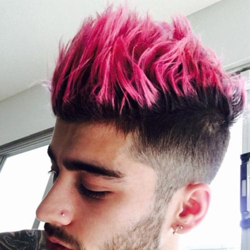 Zayn Malik Hair - Pink Highlights