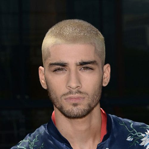 Zayn Malik Haircut - Blonde Buzz Cut
