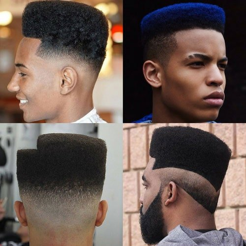 Black Men Haircuts - High Top Fade