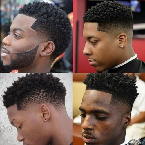 Black Men Hairstyles - Twists With Fade