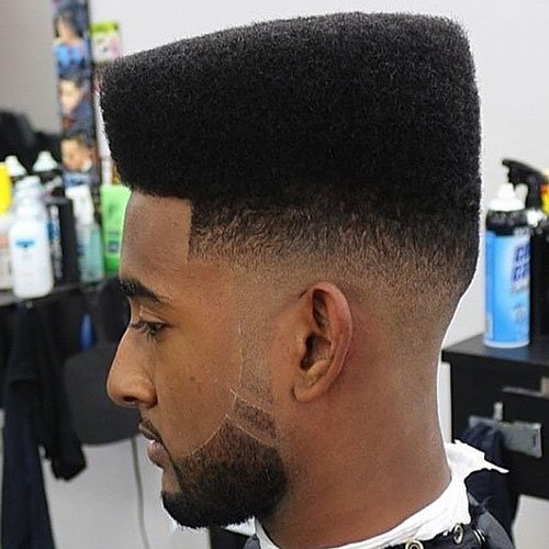 Flat Top Fade For Black Men