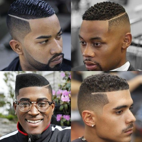 Hairstyles For Black Men - Part With Fade