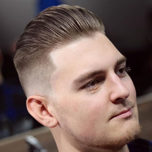 High Fade + Shape Up + Thick Slick Back