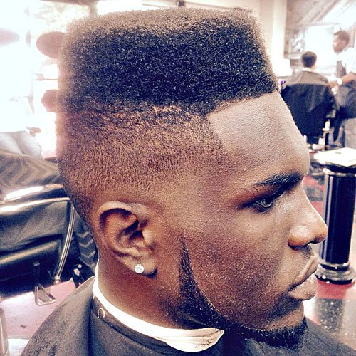 High Skin Fade with Flat Top