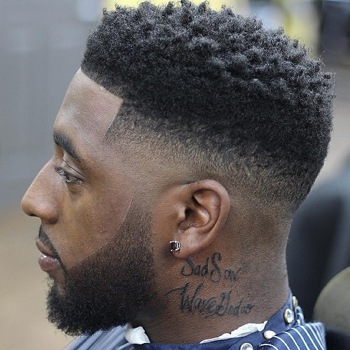 High Top Fade Haircut with Beard