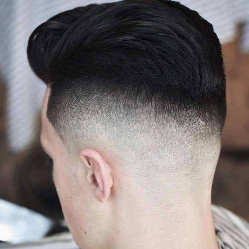 High Undercut Fade + Thick Textured Slick Back