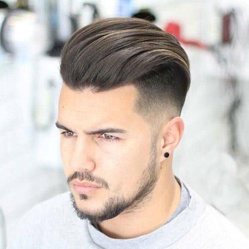 Slick Back Haircut