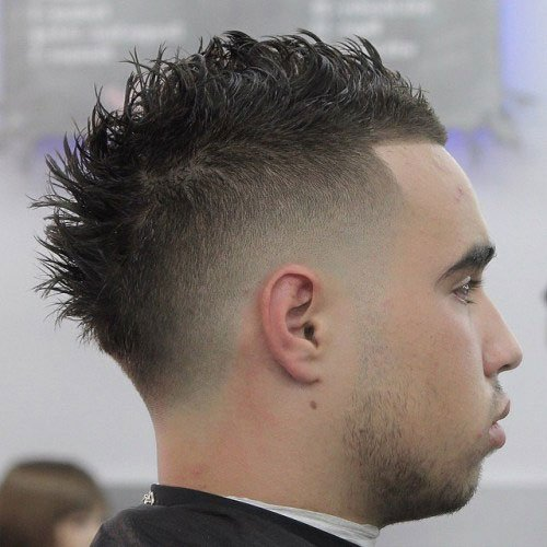 Bald Fade Mohawk Haircut