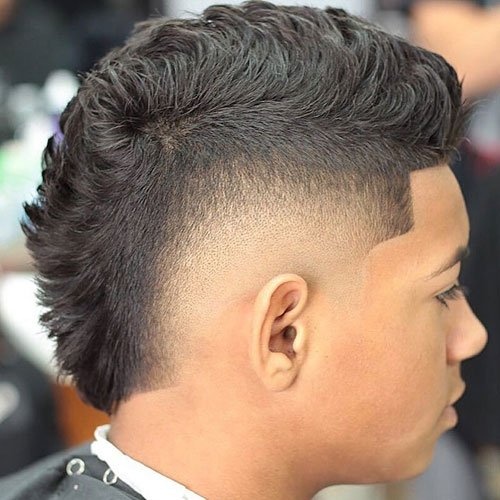 Burst Fade Fohawk with Line Up