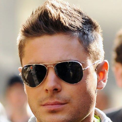 Cool Fohawk Styles For Guys - Zac Efron Faux Hawk