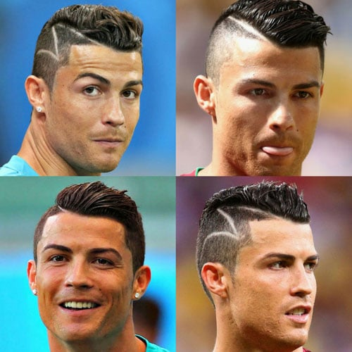 Cristiano Ronaldo Hard Part Haircut