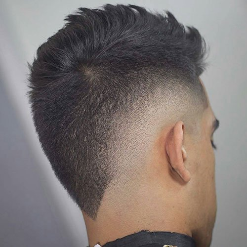 Faux Hawk Fade For Men