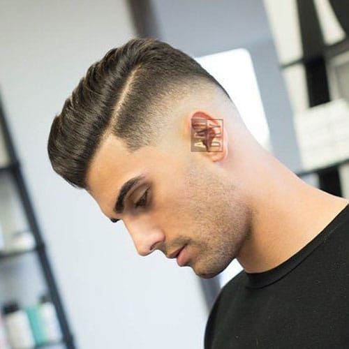 Haircut with a Part - Low Bald Fade with Comb Over and Hard Part