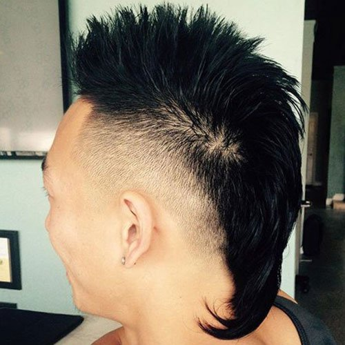 High Fade Asian Mohawk with Tail