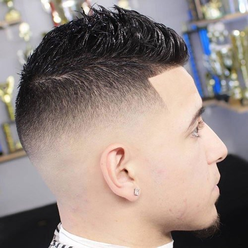 High Skin Fade with Short Fohawk