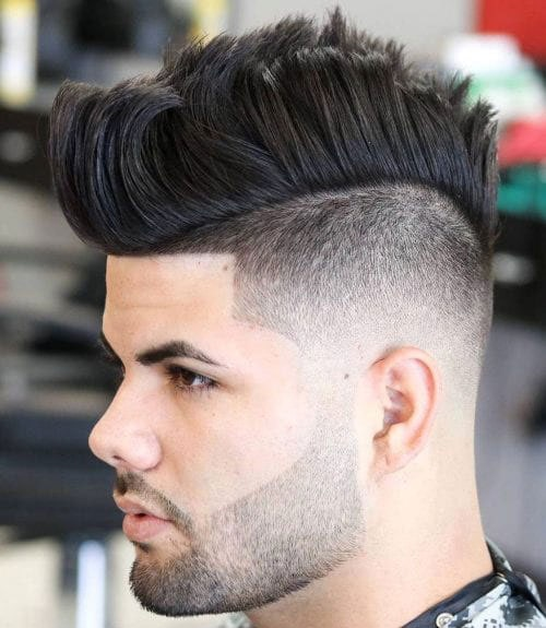 Long Hair Mohawk Fade