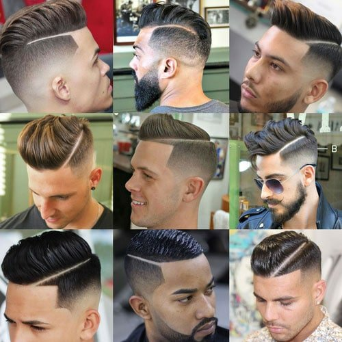 Men's Hard Part Haircut