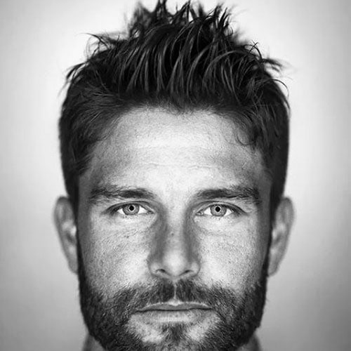 Thick Textured Fohawk with Beard