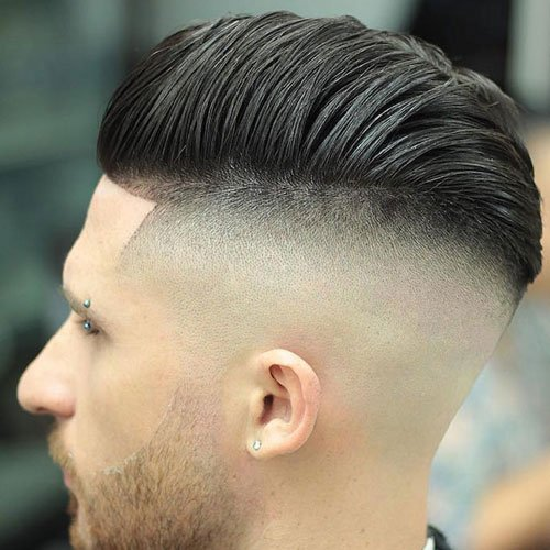 Cool Comb Over Pompadour with Undercut