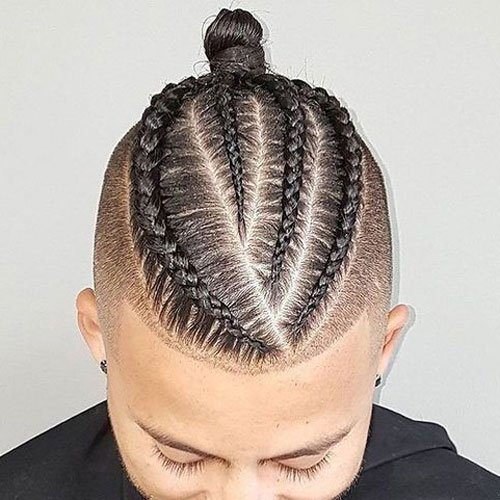 Cool Man Braid - Braided Hair with Top Knot