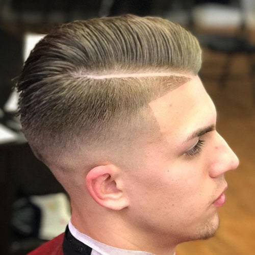 Hard Side Part with High Temp Fade and Shape Up