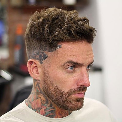 how to style wavy hair men thick 21 summer hairstyles for 2019 s haircuts 4830 | High Razor Fade with Curly Hair