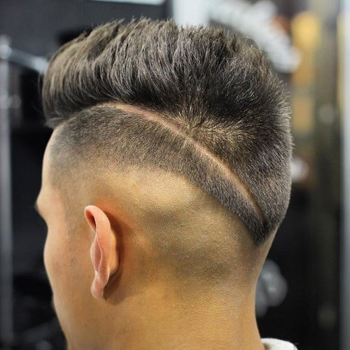High Razor Fade with Hair Design
