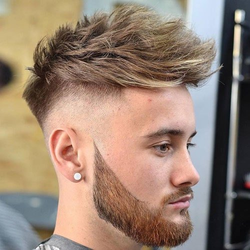 23 barbershop haircuts mens haircuts hairstyles 2017 high razor fade with textured hair and beard urmus Gallery