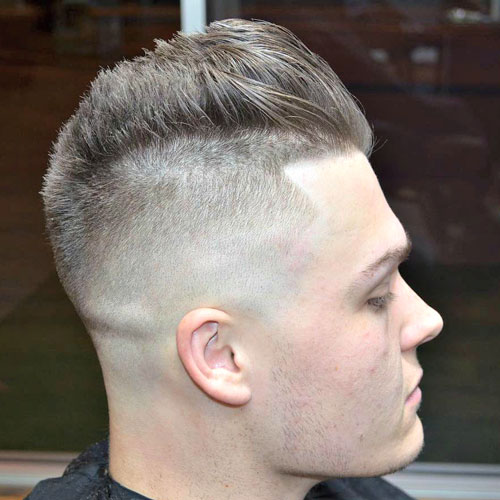 High Skin Fade with Edge Up and Spiked Hair
