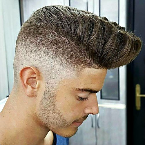 High Skin Fade with Modern Pompadour