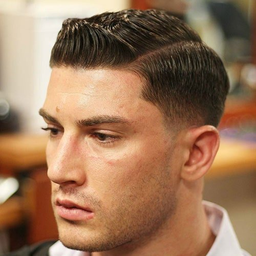 Low Fade with Classic Side Part