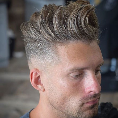 Low Skin Fade with Long Textured Quiff