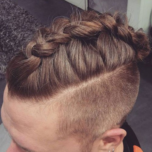 Men's Braid Styles - Undercut with Long Braided Hair