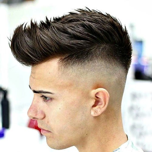 Spiky Hair with High Skin Fade