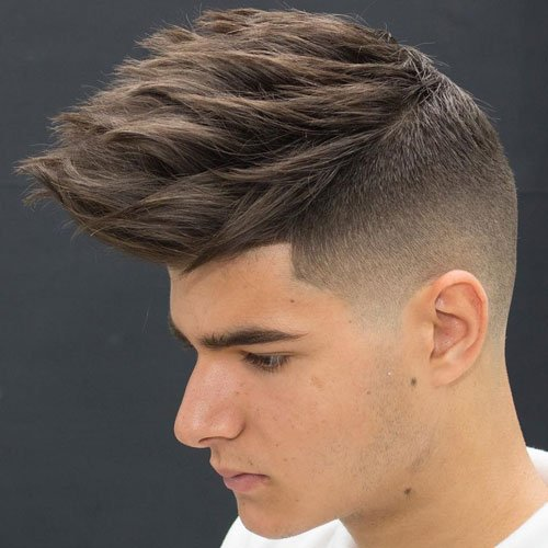 Textured Spiky Hair with Skin Fade and Line Up