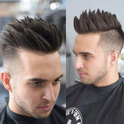 Undercut Fade with Textured Spiky Hair and Beard