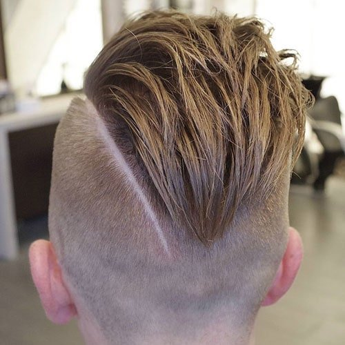 Undercut Fade with Thick Part and Slick Back