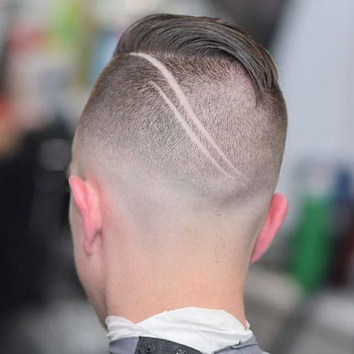 Undercut with Comb Over and Hair Design
