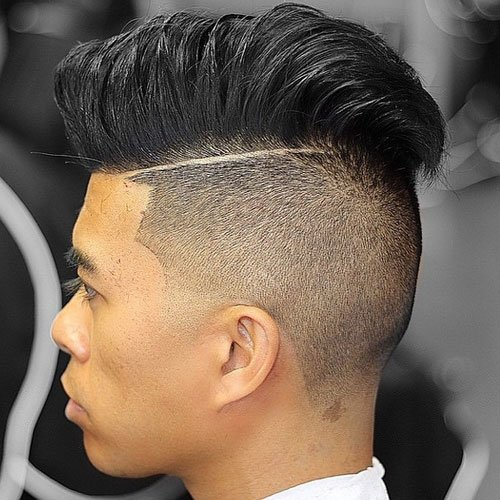 Undercut with Hard Part and Thick Comb Over