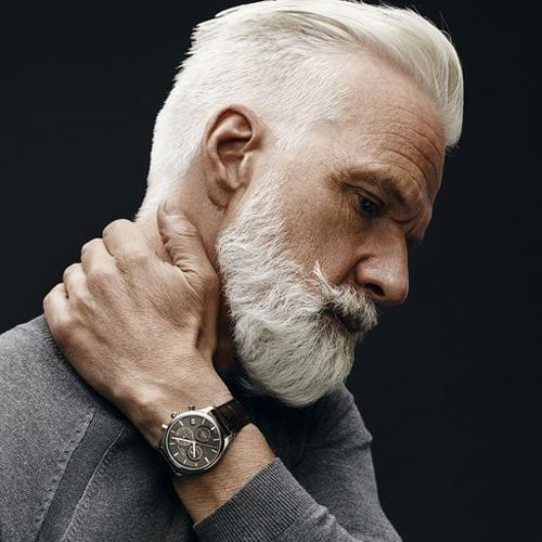 Cool Hairstyles For Men with White Hair