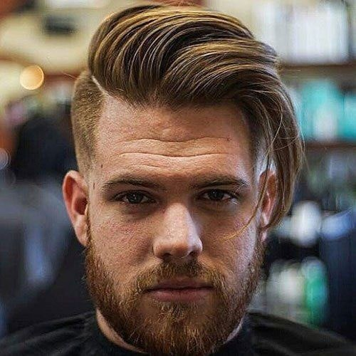 Beard styles with Long Comb Over Haircut