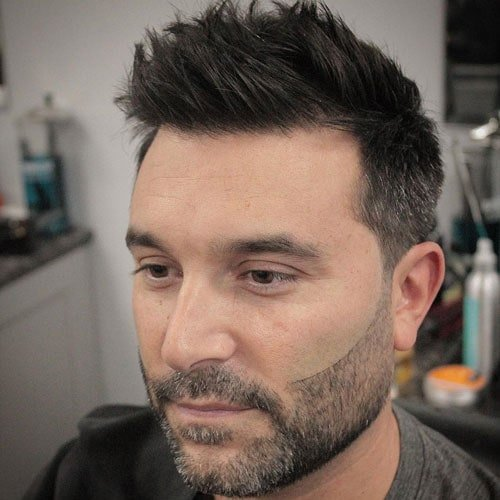 Elegant Haircut For Round Face Male   Messy Spiky Hair