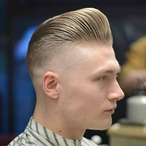 Hairstyle For Round Face Men   Pompadour