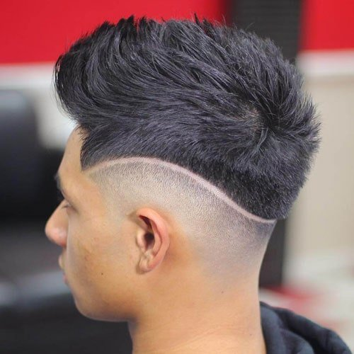 Hi Lo Fade with Thick Brush Up