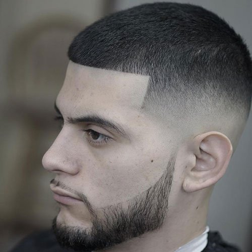 High Bald Fade with Line Up and Buzz Cut