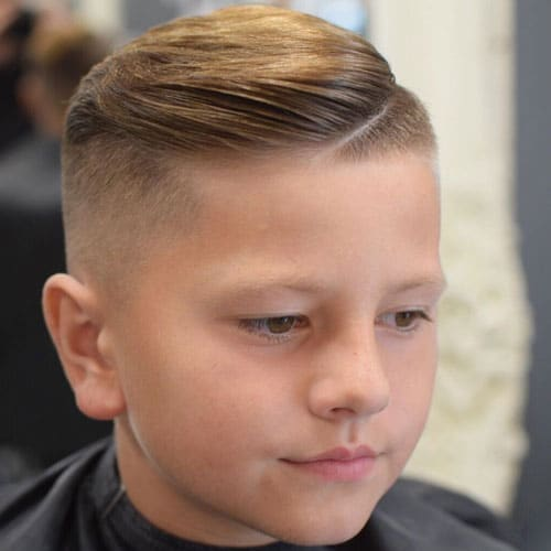 High Fade with Side Swept Hairstyle