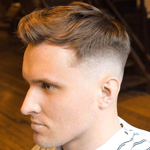 High Fade with Textured Top