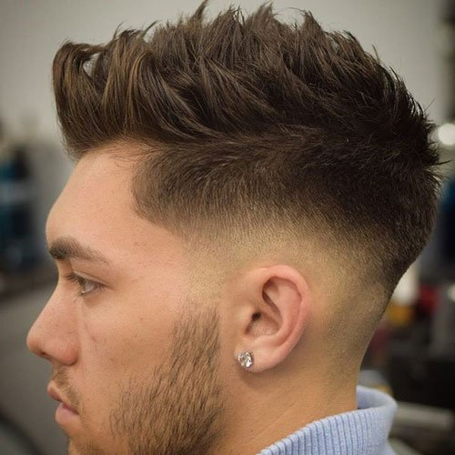Low Bald Fade with Spiked Hair