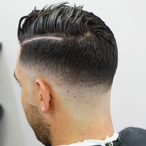 Low Razor Fade with Hard Side Part